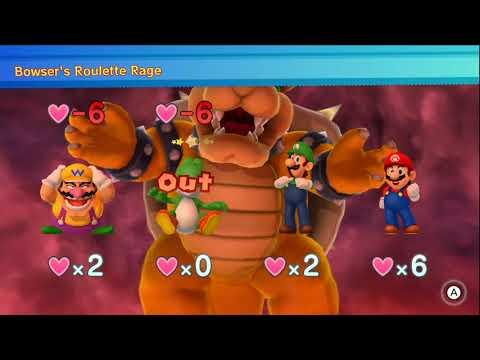 Mario Party 10 - Chaos Castle (Bowser Vs. Team Mario) Wario, Mario, Yoshi, Luigi #127