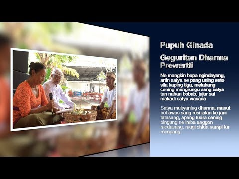 Pupuh Ginada Geguritan Dharma Prewertti