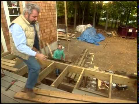 Framing the deck and laying the deck boards youtube for 6 metre decking boards