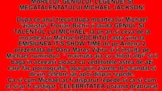 ZIARISTUL FLORIAN BICHIR IL INSULTA PE MICHAEL!
