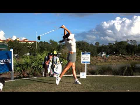 MICHELLE WIE 120fps SLOW MOTION FACE ON DRIVER GOLF SWING 2015 CME GROUP TOUR CHAMPIONSHIP 1080p HD