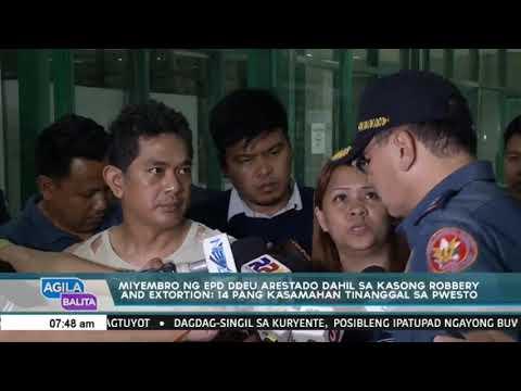 Miyembro ng EPD DDEU arestado sa kasong robbery and extortion: 14 pang kasamhan tinanggal sa puwesto