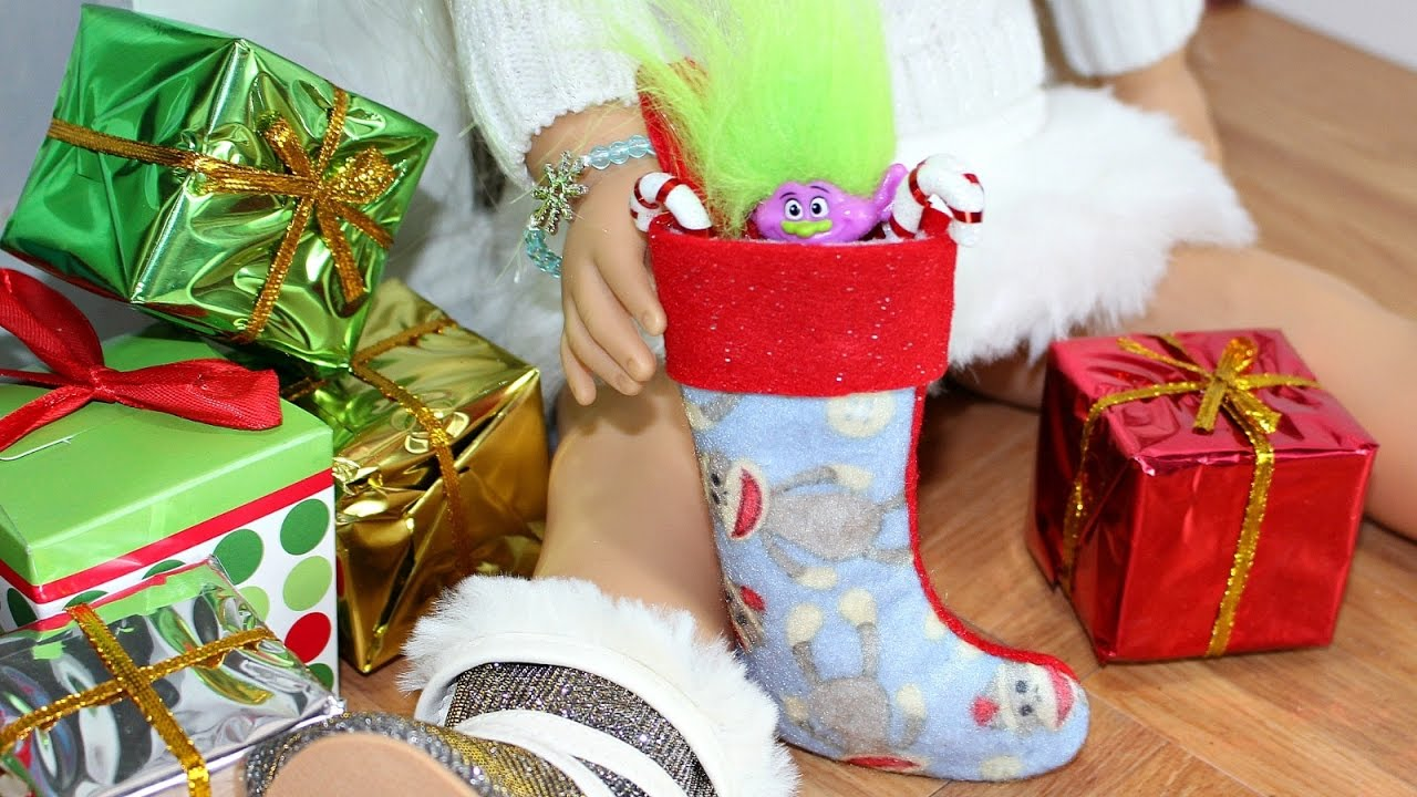 Christmas Stocking Craft Ideas Part - 36: DIY American Girl Doll Christmas Stockings - YouTube