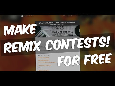 Make your own music / remix CONTESTS on Pump Your Sound for FREE