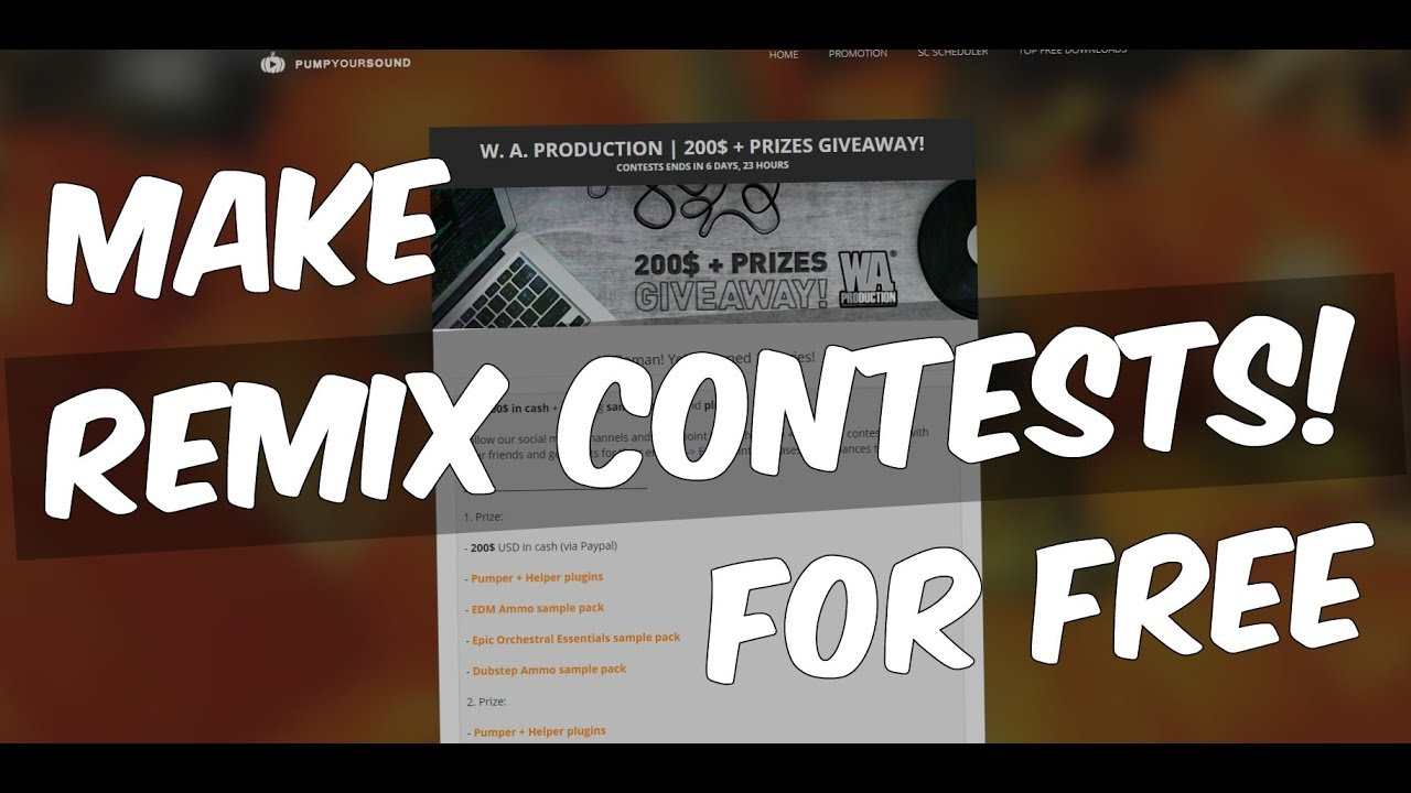 Make your own music / remix CONTESTS on Pump Your Sound for