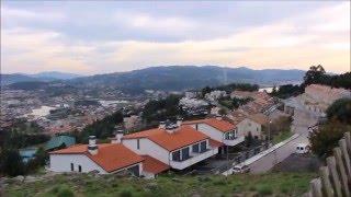 АСМР видео. С высоты, к подножию города. Красивый пейзаж. PONTEVEDRA .