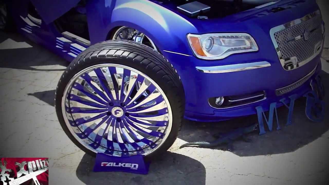 Custom Flat Blue 2012 Chrysler 300 On Forgiatos Youtube