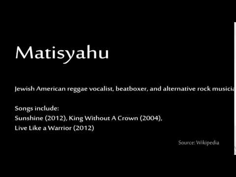How to pronounce - Matisyahu