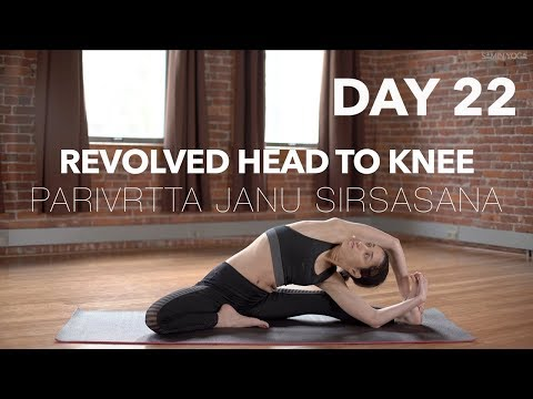 How to do Revolved Head to Knee | Yoga Tutorial Day 22 | 30 Poses 30 Days