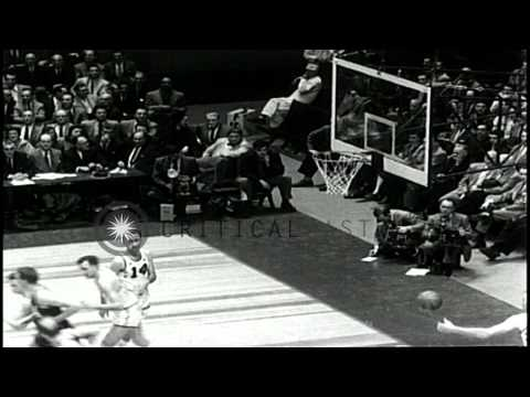 Boston Celtics wins the match against St Louis Hawks during an East-West basketba...HD Stock Footage
