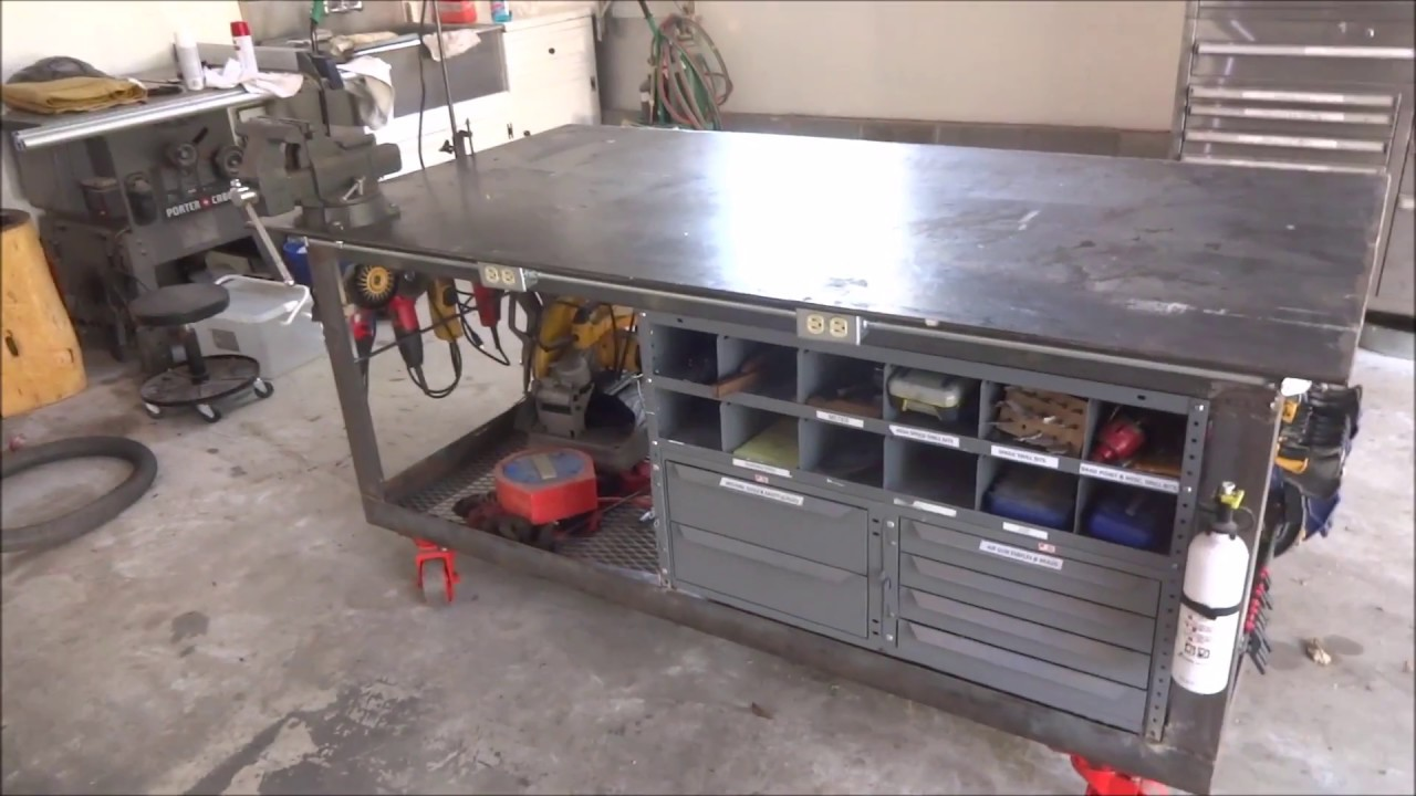 Welding Table Workbench And Tool Storage Youtube