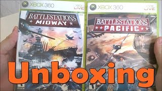 Battlestations Midway \ Battlestations Pacific  - Xbox 360 - UNBOXING
