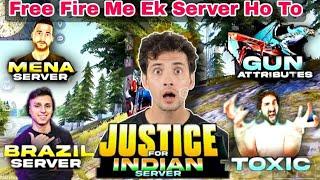 Free Fire Me Sirf Ek Hi Server Ho To? Justice For Indian Server #shorts #freefire #shortsvideo