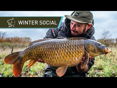 CARP FISHING In BELGIUM - Winter Social
