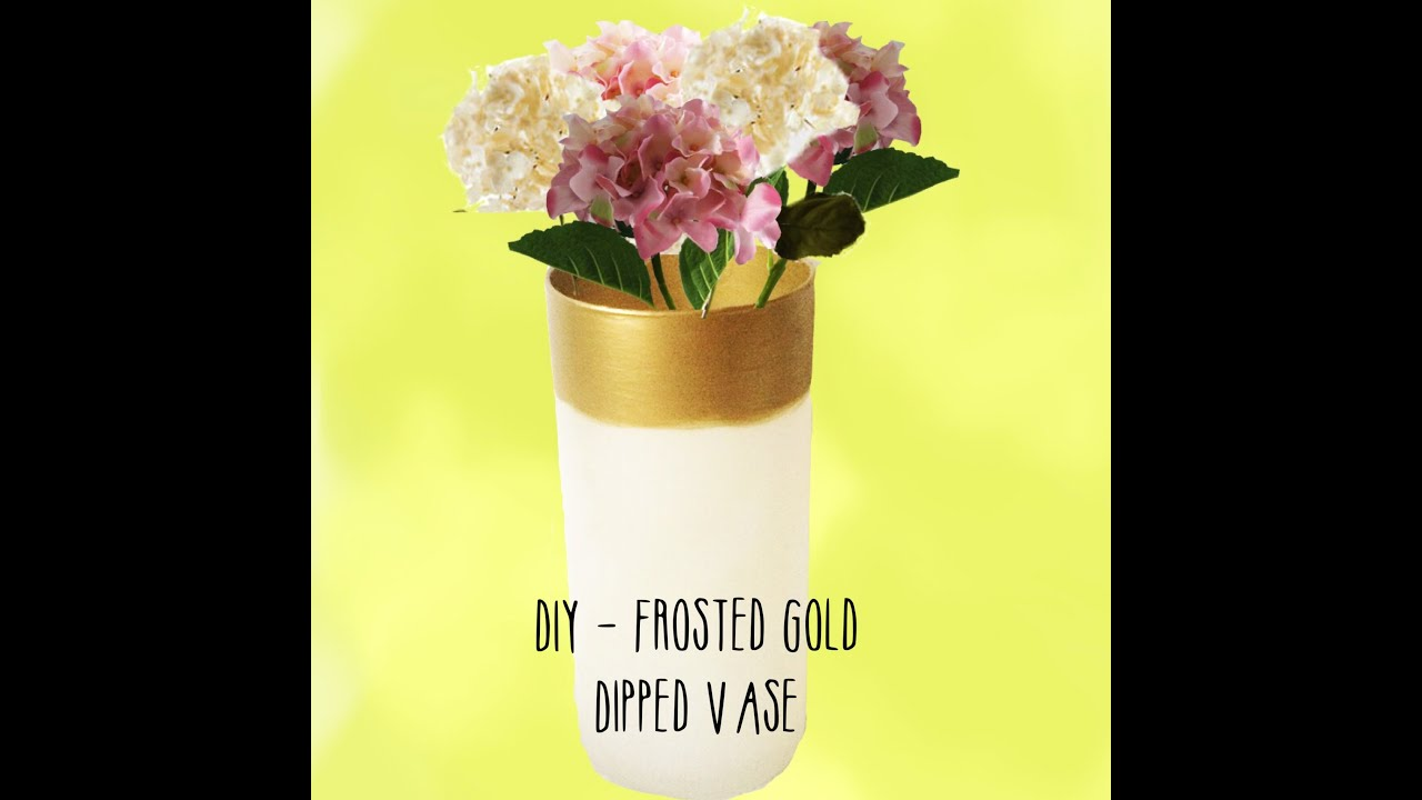 Diy frosted gold dipped vase youtube diy frosted gold dipped vase reviewsmspy