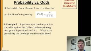 Video Math1313 chapter 4 odds & prob download MP3, 3GP, MP4, WEBM, AVI, FLV November 2017