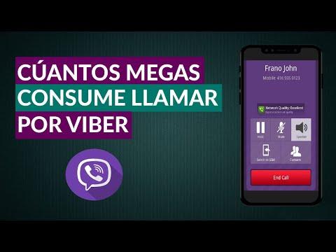 Cuantos Megas o Datos se Gastan en una Llamada de Viber