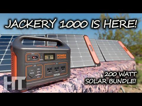jackery-explorer-1000- -200-watt-solar-panel-charging-in-parallel-demo- -promo-codes