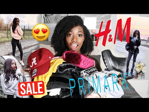 XXL Fashion Haul Try on 2018   Sale   H&M , Primark   Winter   Abigail