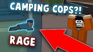 KID RAGES À CAMPING COPS IN JAILBREAK?! (Roblox Jailbreak)