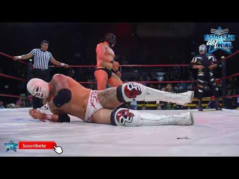 Máscara Año 2000 Jr. H del Médico Asesino y X Fly vs H del Alebrije, Imposible y Pantera