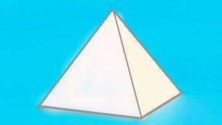 Как сделать объемную ПИРАМИДУ из бумаги? ||| Геометрические фигуры своими руками