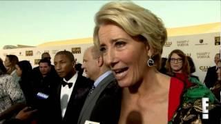 Emma Thompson about Oscars nom, Meryl Streep & kiss with Julia Roberts