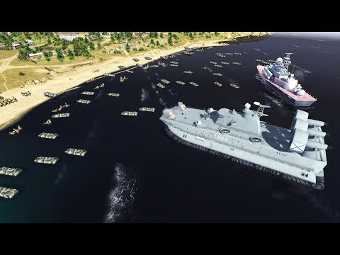 Full-Scale HOVERCRAFT INVASION FORCE Landing | Cold War Mod