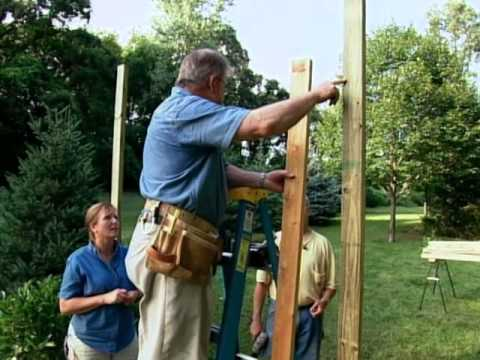 How to Build a Wood Arbor for Garden or Yard YouTube