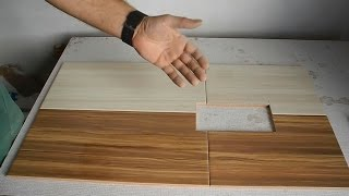 Вырезаем идеальное отверстие,попадающее на 4 ре плитки