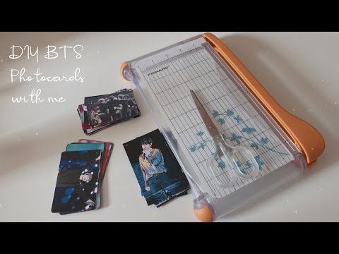 DIY Double-Sided BTS Photocards | Paper Cutting ASMR | 2019 Melon Music Awards