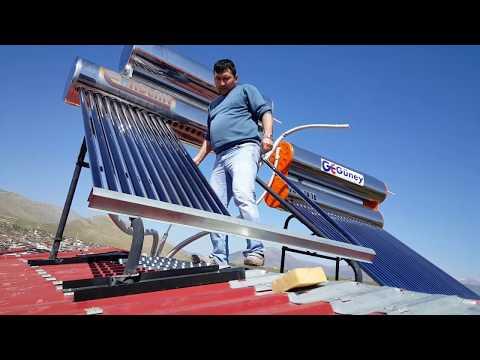 GÜNEŞ ENERJİSİ SU ISITMA #4 (Güneş Enerjisi Kireç Temizliği ve Montaj Sağlamlaştırma.)
