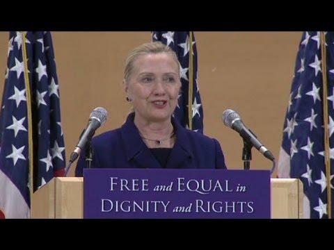 Hillary Clinton Promotes Gay Rights