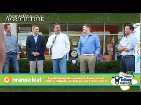 UK Basketball Coach John Calipari talks Orange Leaf's partnership with Udderly Kentucky
