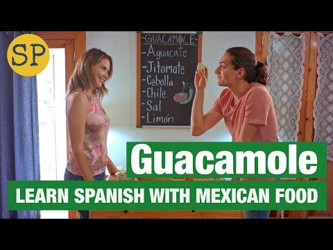 Guacamole Recipe In Spanish | Learn Spanish | Mexican Food