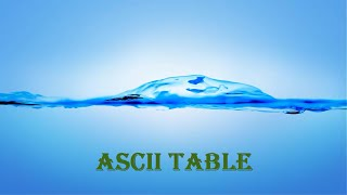 How To Print ASCII TABLE In C++