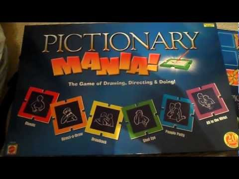 OPENING OF LATEST PICTIONARY MANIA BOARD GAME GREAT FAMILY GAME FOR CHRISTMAS