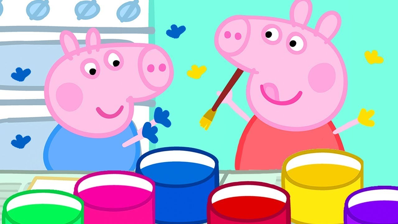 Peppa Pig Official Channel Painting With Hands And Potatoes With Peppa Pig Youtube