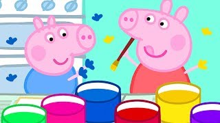 Peppa Pig Channel  Painting with Hands and Potatoes with Peppa Pig