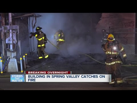 Fire rips through Spring Valley scrap yard