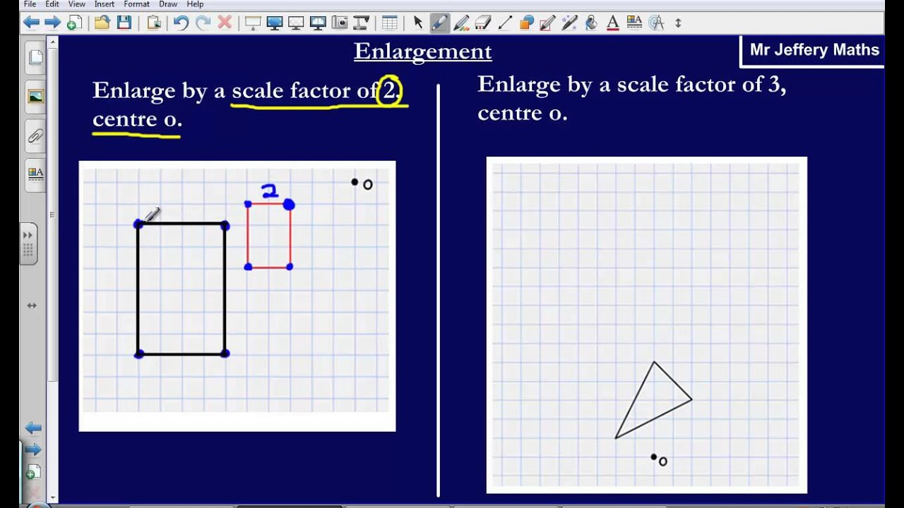Enlargement By A Scale Factor Edexcel Gcse Maths