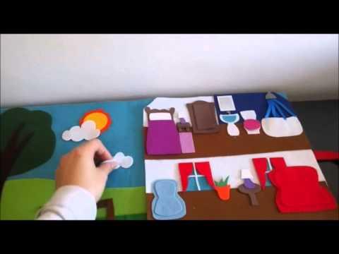 Libro sensorial fieltro casa youtube - Casas de fieltro ...