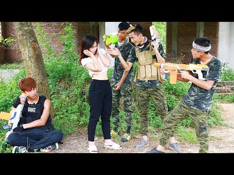 Thumbnail: Superhero action Spiderman S.W.A.T Special Troops Nerf guns Kidnapper HERO MAN Rescue Lady Nerf war