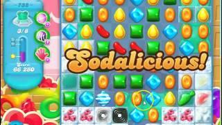 Candy Crush Soda Saga Level 738  no boosters