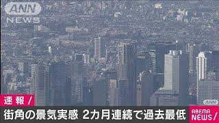 街角の景気実感 2カ月連続で過去最低を更新(20/05/13)