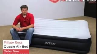 видео Надувные кровати Intex Rising Comfort Pillow Rest 66702 со встроенным насосом 220В