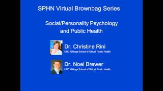 Social/Personality Psychology in Public Health
