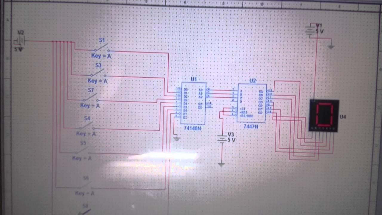 Numeric Water Level Indicator Circuit Diagram With Display Tank Overflow Alarm Engineersgarage Detector Simulator