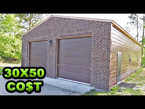 The construction of our 30'x50' metal building – completed with prices and total cost