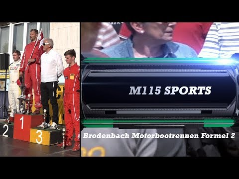 Powerboat Racing - Motorbootrennen  Formel 2 Brodenbach 2017